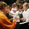 NCAA TOURNAMENT, WOMEN\'S COLLEGE BASKETBALL: University of Tennessee coach Pat Summitt signs autographs for the fans during media and practice day of the NCAA Women\'s Basketball Regional at the Ford Center on Saturday, March 29, 2008, in Oklahoma City, Okla. PHOTO BY CHRIS LANDSBERGER