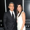 "Actors George Clooney and Sandra Bullock attend the premiere of ""Gravity"" at the AMC Lincoln Square Theaters on Tuesday, Oct. 1, 2013, in New York. (Photo by Evan Agostini/Invision/AP) ORG XMIT: NYEA110"