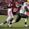 Oklahoma\'s David King (90) chases down Baylor\'s Lache Seastrunk (25) during the college football game between the University of Oklahoma Sooners (OU) and Baylor University Bears (BU) at Gaylord Family - Oklahoma Memorial Stadium on Saturday, Nov. 10, 2012, in Norman, Okla. Photo by Chris Landsberger, The Oklahoman