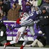Oklahoma\'s Aaron Colvin (14) is called for pass interference against Kansas State\'s Tyler Lockett (16)during an NCAA college football game between the Oklahoma Sooners and the Kansas State University Wildcats at Bill Snyder Family Stadium in Manhattan, Kan., Saturday, Nov. 23, 2013. Oklahoma won 41-31. Photo by Bryan Terry, The Oklahoman