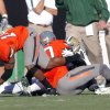 Oklahoma State\'s Brodrick Brown (19) recovers a fumble during the third quarter of a college football game between the Oklahoma State University Cowboys (OSU) and the Baylor University Bears (BU) at Boone Pickens Stadium in Stillwater, Okla., Saturday, Oct. 29, 2011. Photo by Sarah Phipps, The Oklahoman
