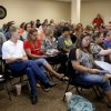 Photo -  A crowd gathers Thursday for a Crooked Oak school board meeting where citizens expressed their concerns with two of the school board members lack of attendance to meetings in Oklahoma City.  Photo by Bryan Terry, The Oklahoman   BRYAN TERRY -