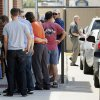People wait in line to enter the Chick-fil-A at 6201 N May during Chick-fil-A Appreciation Day in Oklahoma City, Wednesday, Aug. 1, 2012. Photo by Nate Billings, The Oklahoman