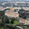 A view of the Mater Ecclesiae Monastery, right, next to the Tower of San Giovanni, inside the Vatican State where Pope Benedict XVI is expected to live after he resigns, on Tuesday, Feb. 12, 2013. For months, construction crews have been renovating a four-story building attached to a monastery on the northern edge of the Vatican gardens where nuns would live for a few years at a time in cloister. Only a handful of Vatican officials knew it would one day be Pope Benedict XVI\'s retirement home. On Tuesday, construction materials littered the front lawn of the house and plastic tubing snaked down from the top floor to a dump truck as the restoration deadline became ever more critical following Benedict\'s stunning announcement that he would resign Feb. 28 and live his remaining days in prayer. (AP Photo/Alessandra Tarantino)