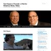 This image made from the Rev. Carl Keyes\' promotional website www.revcarlkeyes.org on July 3, 2012 shows a page which includes a photo of him with Colin Powell at a 2009 fundraiser, top, and a video of Keyes in Burundi, bottom. According to financial records, internal correspondence and interviews with former employees conducted by The Associated Press, Keyes blurred the lines between his charities, his ministry and his personal finances while promoting himself as an international humanitarian. (AP Photo)