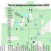 Photo - Graphic: Top 10 dangerouse Intersections 2009