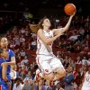 Oklahoma\'s Morgan Hook (10) shoots during the women\'s college basketball game between the Oklahoma Sooners and the Kansas Jayhawks at the LLoyd Noble Center in Norman, Okla., Sunday, March, 4, 2011. Photo by Sarah Phipps, The Oklahoman