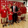 Pete Hughes poses with his wife and children, Dominic, 12, wife Debby, P.J., 8, Grace, 10, Hal, 14, and Thomas, 16 as he is introduced as the University of Oklahoma (OU) Sooners new baseball coach on Thursday, June 27, 2013 in Norman, Okla. Photo by Steve Sisney, The Oklahoman