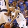 Oklahoma City\'s Thabo Sefolosha (2) defends Dallas\' Delonte West (13) during Game 3 of the first round in the NBA playoffs between the Oklahoma City Thunder and the Dallas Mavericks at American Airlines Center in Dallas, Thursday, May 3, 2012. Photo by Bryan Terry, The Oklahoman