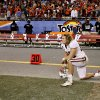 Stanford fullback Ryan Hewitt watches as time expires during overtime of the Fiesta Bowl NCAA college football game against Oklahoma State Monday, Jan. 2, 2012, in Glendale, Ariz. Oklahoma State won 41-38 in overtime. (AP Photo/Matt York) ORG XMIT: PNP141