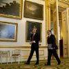 U.S. Defense Secretary Leon Panetta and Britain\'s Secretary of State for Defense Philip Hammond arrive for a news conference at Lancaster House in London on Saturday, Jan. 19, 2013. (AP Photo/Jacquelyn Martin)