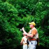 Fishermen drop their lines in the Mountain Fork River inside Beavers Bend State Park. PHOTO PROVIDED.