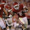 Oklahoma\'s Dominique Whaley (8) runs during the college football game between the University of Oklahoma Sooners (OU) and the University of Missouri Tigers (MU) at the Gaylord Family-Memorial Stadium on Saturday, Sept. 24, 2011, in Norman, Okla. Photo by Bryan Terry, The Oklahoman