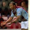 Photo - Aston Villa's Gabby Agbonlahor celebrates his goal during their English Premier League soccer match against Sunderland at the Stadium of Light, Sunderland, England, Wednesday, Jan. 1, 2014. (AP Photo/Scott Heppell)