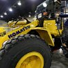 Bryan Fortune of Turner Schools climbs off of a KOMATSU tractor during the FFA state convention at the Cox Convention Center on Wednesday April 29, 2009, in Oklahoma City, Okla. Photo by Chris Landsberger, The Oklahoman