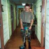 In this July 2000 image provided by Sean McGuire, Israel Keyes is seen buffing a floor during his military days in Fort Lewis, Wash. Keyes showed no remorse as he detailed how he\'d abducted and killed the 18-year-old woman, then demanded ransom, pretending she was alive. His confession cracked the case, but prosecutors questioning him soon realized there was more, he has killed before. Before divulging more details, Keyes committed suicide in his cell. (AP Photo/Sean McGuire)