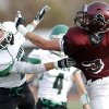 Jones\' Quinn Mason breaks up a pass intended for Blanchard\'s Zach Hill during the high school playoff game between Jones and Blanchard at Putnam City High School, Saturday,Dec. 1, 2012. Photo by Sarah Phipps, The Oklahoman