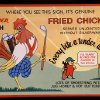 A framed sign featuring Beverly\'s logo and the restaurant\'s most famous dish, Chicken in the Rough, hangs on a wall beside a booth. Photos by Jim Beckel, The Oklahoman Jim Beckel - THE OKLAHOMAN