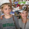 Parker Tumelson and Logan Hendrecks model crazy newspaper hats they made during a recent Hat Day activity at Best of Books. Special activities are scheduled thoughout the summer. Call 340-9202 for more information. Community Photo By: Connie Mashburn Submitted By: Connie,
