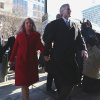 Photo - Former Virginia Gov. Bob McDonnell and his wife Maureen arrive at the U.S. District Court in Richmond on Friday, Jan. 24, 2014, for his and his wife Maureen's bond hearing and arraignment on Friday, Jan. 24, 2014 on federal corruption charges. Federal prosecutors allege that the McDonnells accepted more than $165,000 worth of loans and gifts from Jonnie Williams, the former head of Star Scientific Inc.  (AP Photo/The Virginian-Pilot, Steve Earley)  MAGS OUT