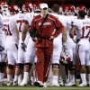 Oklahoma\'s Sam Bradford walks the sideline during the first half of the college football game between the University of Oklahoma Sooners (OU) and the University of Nebraska Cornhuskers (NU) on Saturday, Nov. 7, 2009, in Lincoln, Neb. Photo by Chris Landsberger, The Oklahoman
