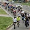 Riders head east on Danforth Road during the Central Oklahoma Bike to Work Day 2009 in Edmond, OK, Friday, May 1, 2009. BY PAUL HELLSTERN, THE OKLAHOMAN
