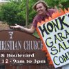 Rachel Lewis, youth minister of First Christian Church of Edmond, starts the countdown to Saturday\'s garage sale. Community Photo By: Jennifer Rodr Submitted By: Laurie,