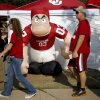Photo - Fans walk outside the stadium before a college football game between the University of Oklahoma Sooners (OU) and the Kansas State University Wildcats (KSU) at Gaylord Family-Oklahoma Memorial Stadium, Saturday, September 22, 2012. Photo by Bryan Terry, The Oklahoman