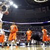 Oklahoma\'s Blake Griffin (23) dunks the ball against the Syracuse defense during the first half of the NCAA Men\'s Basketball Regional at the FedEx Forum on Friday, March 27, 2009, in Memphis, Tenn. PHOTO BY CHRIS LANDSBERGER, THE OKLAHOMAN