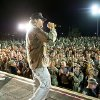 Country music superstar Toby Keith takes the stage Wednesday to show his support and perform for 1,000 service members at Camp Speicher in Iraq. Photo provided by Dave Gatley, USO