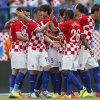 Photo - Croatia players celebrate their goal  during the international  friendly soccer  match between Croatia and Mali, in Osijek, Croatia, Saturday, May 31, 2014. (AP Photo/Darko Bandic)