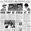 Photo - The Daily Oklahoman's cover from Nov. 17, 1957, with coverage from OU's loss to Notre Dame. FROM THE OKLAHOMAN ARCHIVES