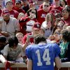 OU\'s Sam Bradford signs autographs after Oklahoma\'s Red-White football game at The Gaylord Family - Oklahoma Memorial Stadiumin Norman, Okla., Saturday, April 11, 2009. Photo by Bryan Terry, The Oklahoman