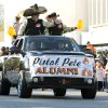 Pistol Pete alumni wave to fans during the Oklahoma State Cowboy\'s homecoming parade in downtown Stillwater, OK, Saturday, Oct. 29, 2011. By Paul Hellstern, The Oklahoman