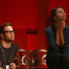 Photo - Actors Chris Pine, left, and Zoe Saldana watch rehearsals for the 85th Academy Awards in Los Angeles, Saturday, Feb. 23, 2013. The Academy Awards will be held Sunday, Feb. 24, 2013. (Photo by Matt Sayles/Invision/AP)