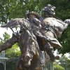 Photo - A statue of the award-winning rodeo bareback horse Commotion at the National Route 66 Museum Complex in Elk City.   David McDaniel - The Oklahoman