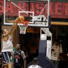 Photo -   U.S. men's national basketball team center Tyson Chandler dunks the ball during a practice Sunday, July 15, 2012, in Washington. (AP Photo/Alex Brandon)