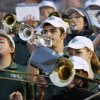 The Edmond Santa Fe band plays in the stands during a high school football game between Midwest City and Edmond Santa Fe at Wantland Stadium in Edmond, Okla., Thursday, Sept. 15, 2011. Photo by Nate Billings, The Oklahoman