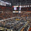Supporters fill the arena during the memorial service for Oklahoma State head basketball coach Kurt Budke and assistant coach Miranda Serna at Gallagher-Iba Arena on Monday, Nov. 21, 2011 in Stillwater, Okla. The two were killed in a plane crash along with former state senator Olin Branstetter and his wife Paula while on a recruiting trip in central Arkansas last Thursday. Photo by Chris Landsberger, The Oklahoman
