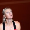 Russia\'s Maria Sharapova looks up after beating Australian Samantha Stosur 6-7, 7-6, 7-6 during their quarterfinal match at the Porsche tennis Grand Prix in Stuttgart, Germany, Friday, April 27, 2012. (AP Photo/Michael Probst) ORG XMIT: PSTU127