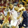 Courtney Paris, left, had six blocks against Georgia Tech. PHOTO BY STEVE SISNEY, THE OKLAHOMAN