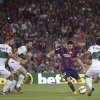 Photo - FC Barcelona's Lionel Messi from Argentina, second right, kicks the ball to scores against Elche during a Spanish La Liga soccer match at the Camp Nou stadium in Barcelona, Spain, Sunday, Aug. 24, 2014. (AP Photo/Manu Fernandez)