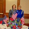 GEORGE WASHINGTON LUNCHEON...Diane Hamill and Quembe Walkingstick were at the DAR luncheon held at Gaylord Center, Oklahoma Christian University. (Photo provided).
