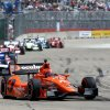 Photo - Simon Pagenaud (77), of France, heads into Turn 2 during the second IndyCar Grand Prix of Houston auto race Sunday, June 29, 2014, in Houston. (AP Photo/David J. Phillip)