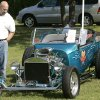 Tim Koenigs looks at a 1923 Ford during the Route 66 Classic Car Show at Hafer Park in Edmond, Okla. September 20, 2008. BY STEVE GOOCH, THE OKLAHOMAN