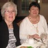 Berniece Kostboth, Teri Beals chat at the party. (Photo by Helen Ford Wallace).