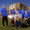 Photo - Oklahoma Christian School football coaches, standing from left, Ted Wild, Harrison Turner, Willie Ward, head coach Derek Turner, and Zach Holland, kneeling from left are Dan Fallon, Farrold Smith, and Tucker Holland in Edmond, Okla., Tuesday, September 24, 2013. Photo by Bryan Terry, The Oklahoman KOD