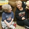 Joy Wyler, left, of Prairie Village, Kan., and Mary Hooper, of Oklahoma City, talk during a pizza party at the District 7 Spring Regional of the Little People of America, at the Holiday Inn, 1000 Interstate Drive, in Norman, Okla., Friday, April 18, 2008. Wyler is the director of LPA\'s District 7. Wyler and Hooper have know each other through LPA for more than 40 years. BY NATE BILLINGS, THE OKLAHOMAN