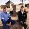 Photo - Dan and Phylllis Meinders sit at the entrance to Cedar Lake Estates, northeast of Waterloo Road and Broadway in Logan County. Dan Meinders' High Chaparral Development developed the neighborhood, one of several Meinders has in the area. Phyllis Meinders' Filly's Real Estate Co. markets them. Photo by Paul Hellstern, The Oklahoman
