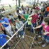 Children choose fishing poles during school day of the Oklahoma Wildlife Expo at the Lazy E Arena and Ranch in Guthrie, OK, Friday, September 28, 2012, By Paul Hellstern, The Oklahoman